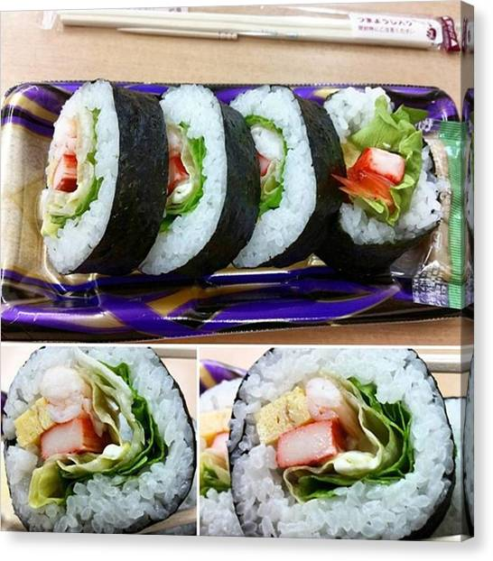 Pumpkins Canvas Print - Rolled Sushi Deli To-go For Lunch by Lady Pumpkin