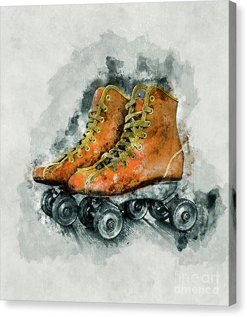 Speed Skating Canvas Print - Roller Skates by Ian Mitchell