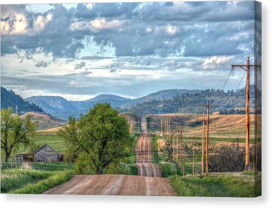 Rollercoaster Country Road Canvas Print