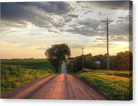 Rolling Down A Country Road Canvas Print