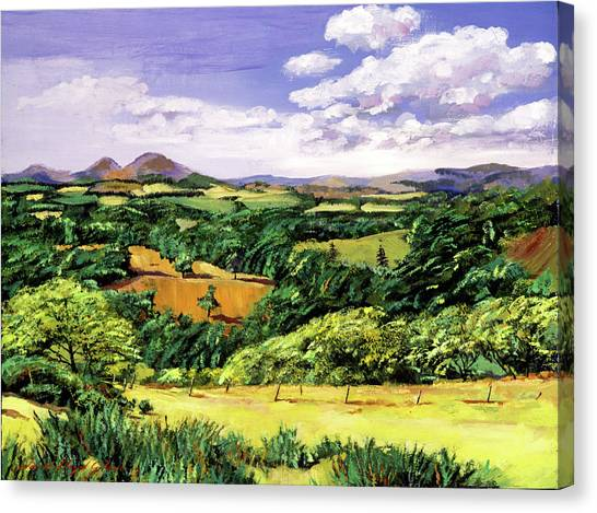 Rolling Hills Of Scotland Canvas Print by David Lloyd Glover