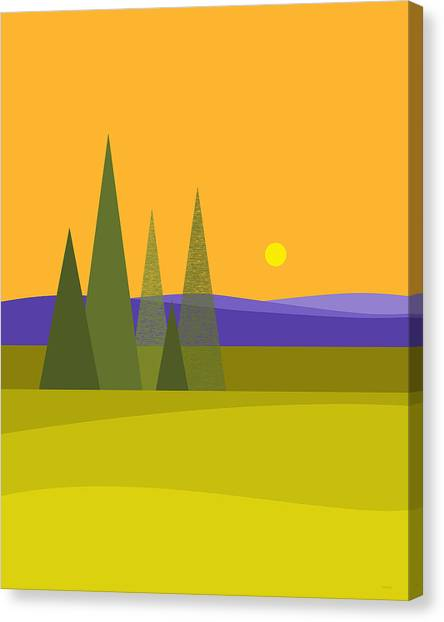 Rolling Hills Canvas Print - Rolling Hills - Vertical by Val Arie