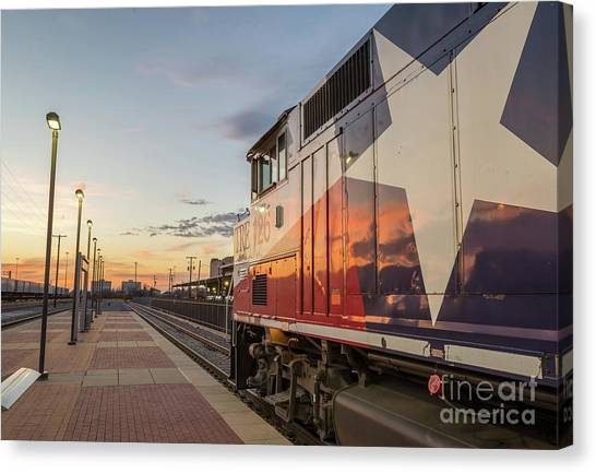 Rolling Into The Sunset Canvas Print