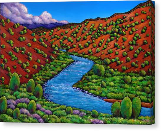 New Mexico Canvas Print - Rolling Rio Grande by Johnathan Harris