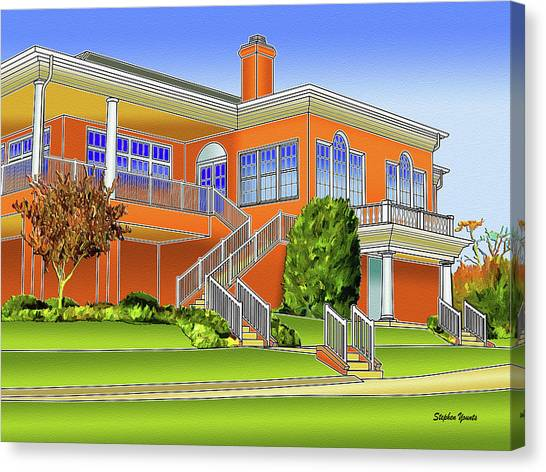 South Baltimore Canvas Print - Rolling Road Golf Club by Stephen Younts