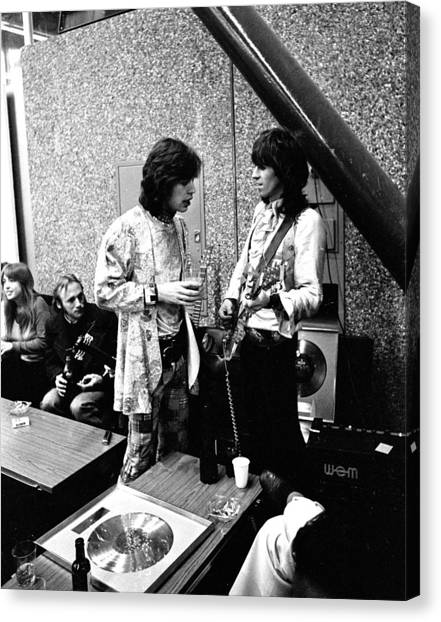 Keith Richards Canvas Print - Rolling Stones 1970 Mick And Keith by Chris Walter