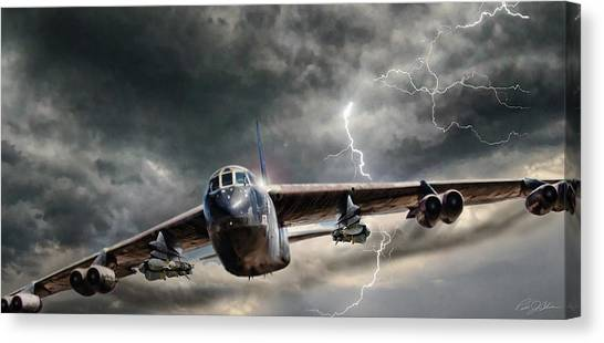 Cold War Canvas Print - Rolling Thunder V2 by Peter Chilelli