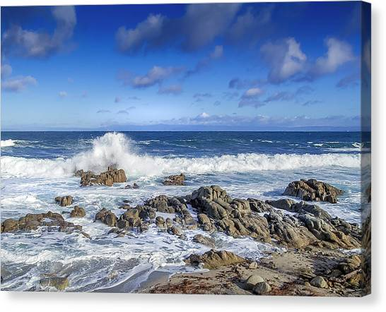 Rolling Tide II - Pacific Grove Ca Canvas Print