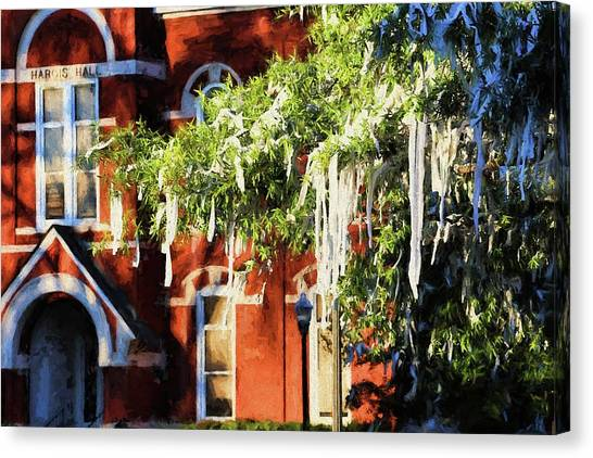 Auburn University Canvas Print - Rolling Toomer's And Hargis Hall by JC Findley