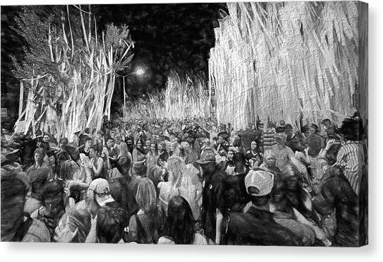 Auburn University Canvas Print - Rolling Toomer's Black And White by JC Findley