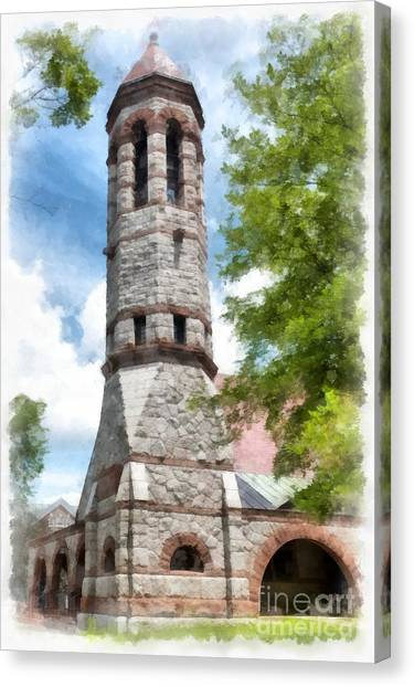Dartmouth College Canvas Print - Rollins Chapel Dartmouth College by Edward Fielding