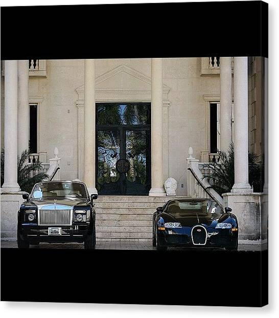 Luxury Cars Canvas Print - #rollsroyce #phantom #bugatti #veyron by Exotic Rides
