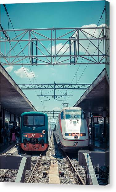 Rome Canvas Print - Roma Termini Railway Station by Edward Fielding