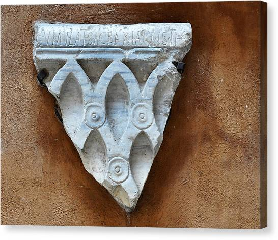 Roman Artifact Canvas Print by Marion McCristall
