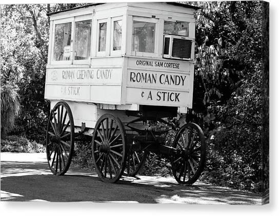 Roman Candy - Bw Canvas Print