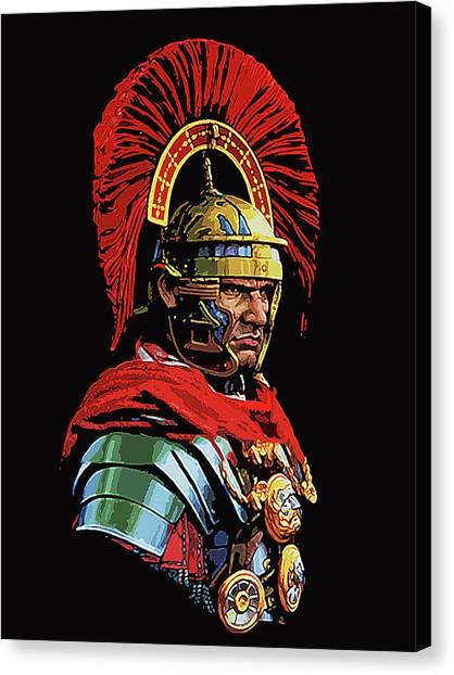 Roman Centurion Portrait Canvas Print