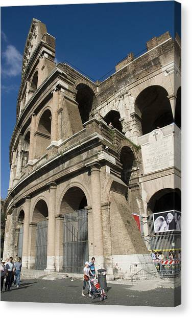 Roman Coliseum Canvas Print by Charles  Ridgway