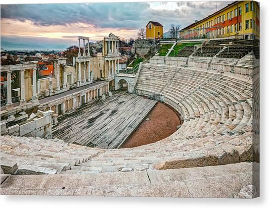 Roman Coliseum Plovdiv Canvas Print