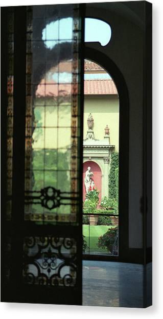 Roman Courtyard View Canvas Print