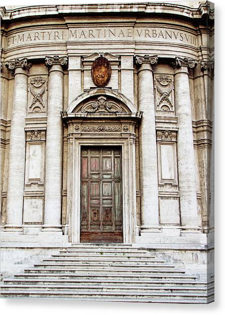 Roman Doors - Door Photography - Rome, Italy Canvas Print