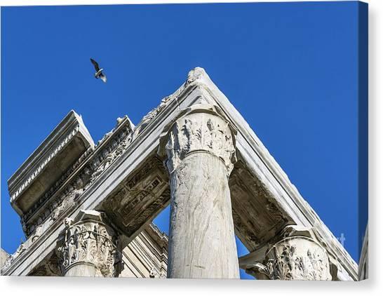 The Forum Canvas Print - Roman Forum Detail by John Greim