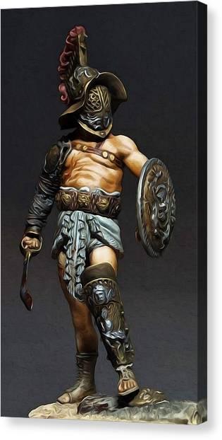 Roman Gladiator - 02 Canvas Print