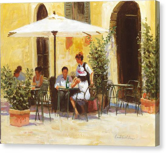 Roman Lunch Canvas Print by Paul Milner