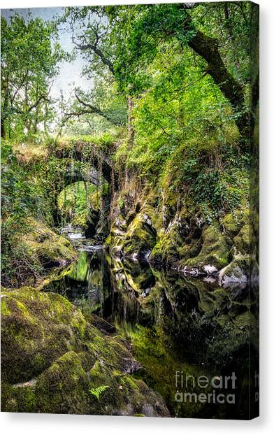 Conwy Canvas Print - Roman Packhorse Bridge by Adrian Evans