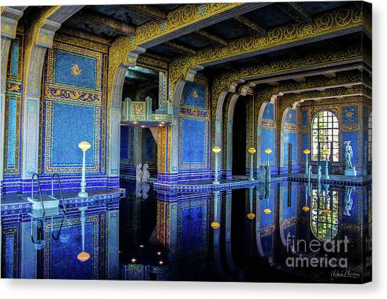 Roman Pool Canvas Print