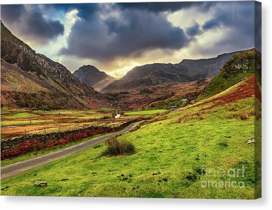 Tryfan Mountain Canvas Print - Roman Road To Snowdonia by Adrian Evans
