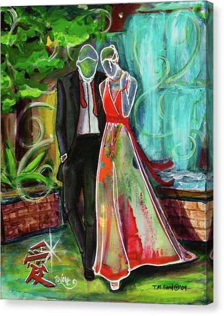 Romance Each Other Canvas Print