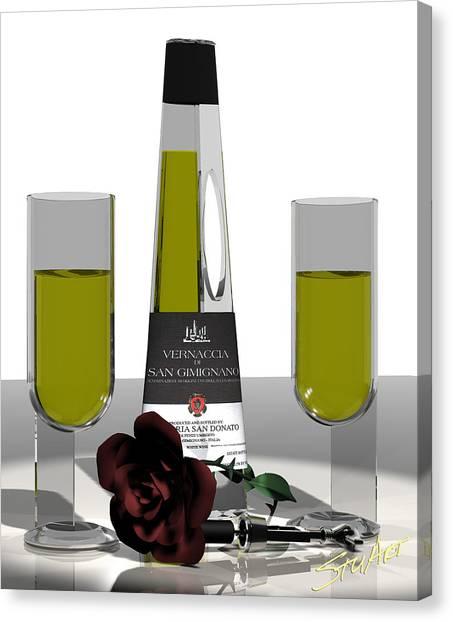 Romance Italian Contemporary Wine Canvas Print