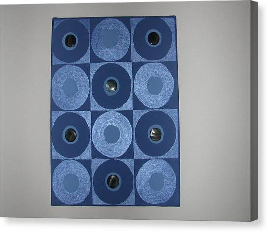 Romancing The Blue Stone Canvas Print by Gay Dallek