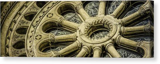 Cathedrals Canvas Print - Romanesque Wheel by Scott Norris