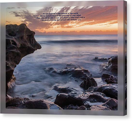Canvas Print featuring the photograph Romans 12 2 by Dawn Currie