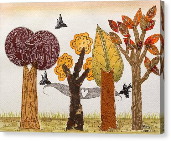 Romantic Autumnal Grove Canvas Print