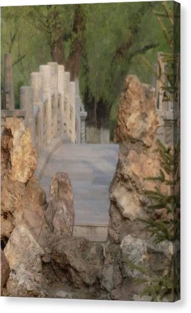Romantic Bridge Canvas Print by Norman Reutter