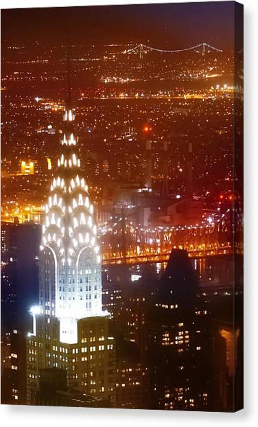 Chrysler Building Canvas Print - Romantic Manhattan by Az Jackson