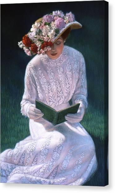 Romantic Novel Canvas Print