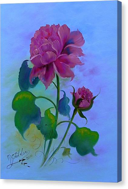 Romantic Peoni Canvas Print by Micheal Giddens