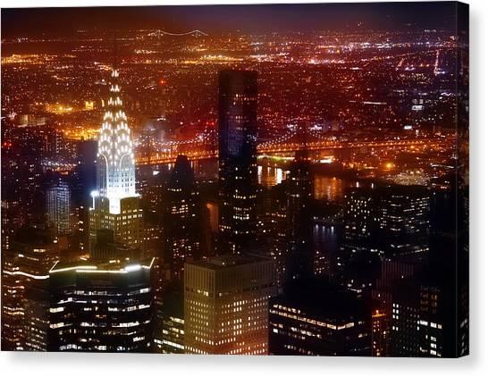 Chrysler Building Canvas Print - Romantic Skyline by Az Jackson