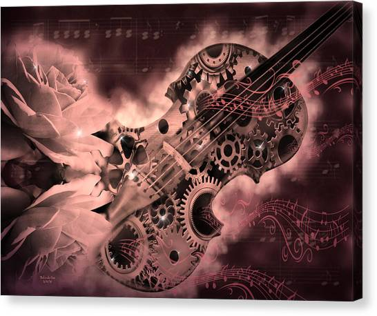 Romantic Stemapunk Violin Music Canvas Print
