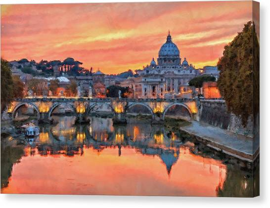 Rome And The Vatican City - 01  Canvas Print