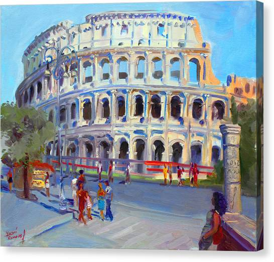 Italy Canvas Print - Rome Colosseum by Ylli Haruni