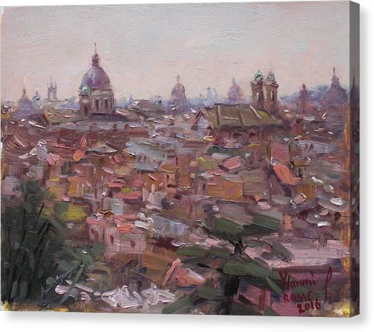 Rome Canvas Print - Rome Da Pincio by Ylli Haruni