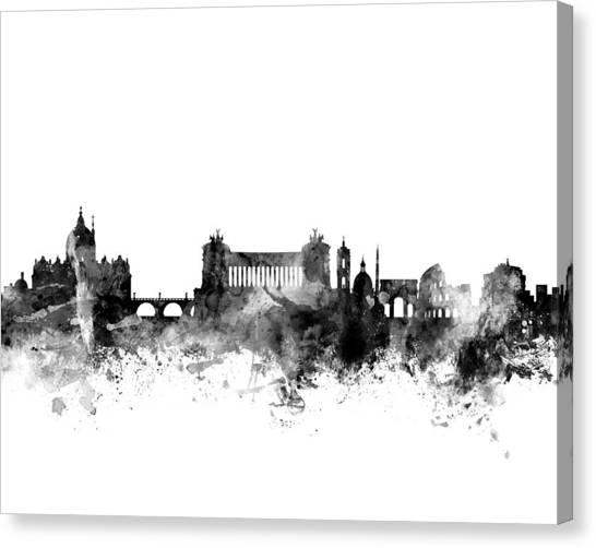 Rome Canvas Print - Rome Italy Skyline 4x5 Ratio by Michael Tompsett