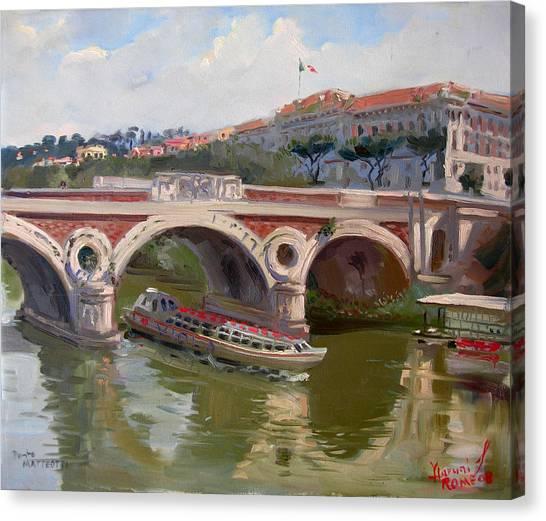 Rome Canvas Print - Rome Ponte Matteotti by Ylli Haruni