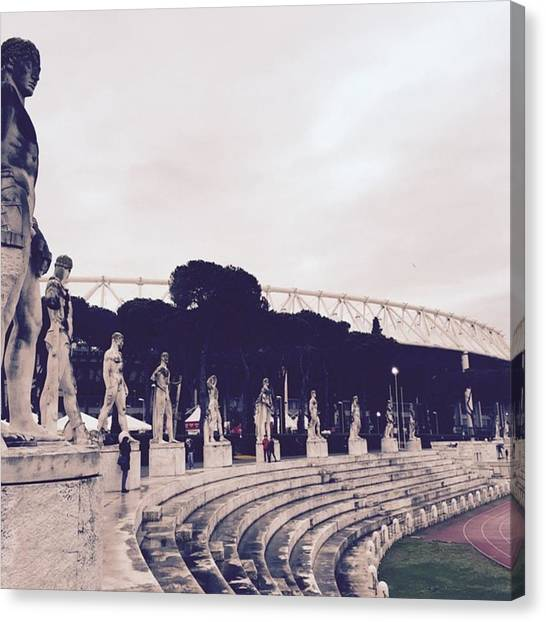 Touchdown Canvas Print - #rome #stadioolimpico #italy #history by Alessio Nardone