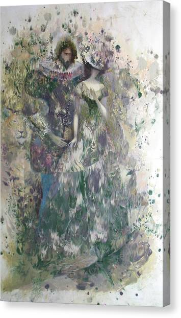 Romeo And Juliet. Monotype Canvas Print
