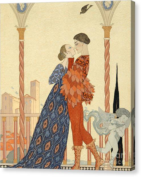 Romeo Canvas Print - Romeo And Juliette by Georges Barbier